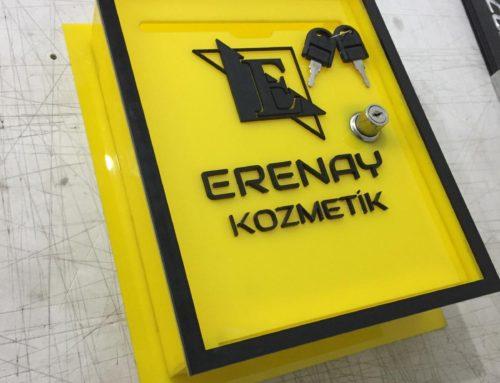 Posta Kutusu Firma Logolu lazer kesim